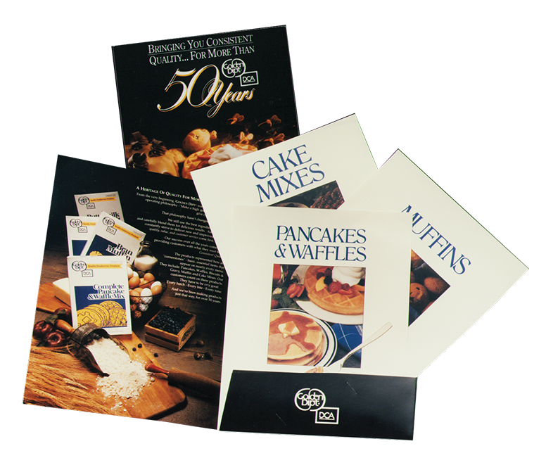 Food service brochure design