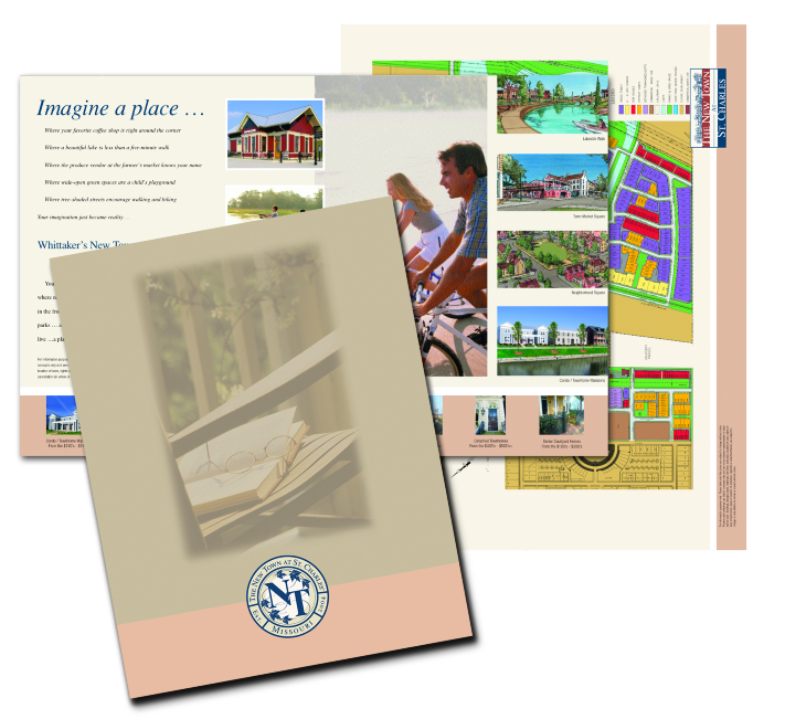 Homebuilder promotional brochure and marketing materials
